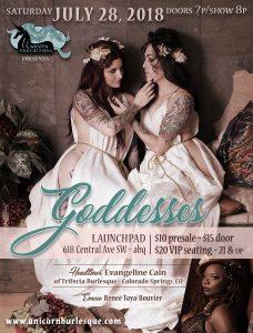 Unicorn Burlesque Poster - Goddesses